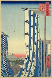 Hiroshige_Le_quartier_des_teinturiers_de_Kanda